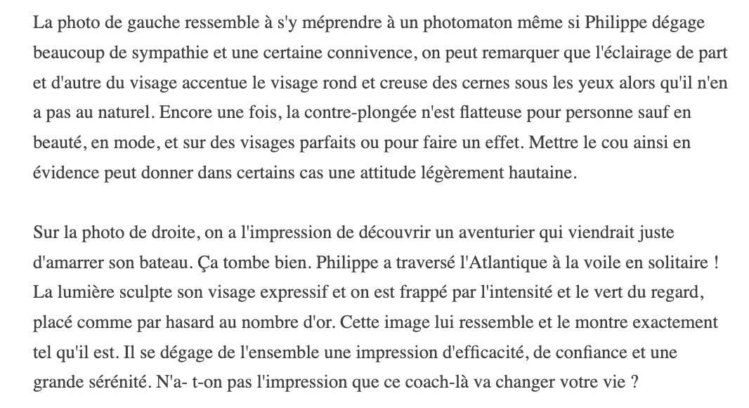Philippe Dupont Photo Avant / après Linkedin